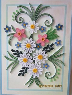 Квиллинг и фоамиран в Украине Neli Quilling, Paper Quilling Cards, Paper Quilling Flowers, Paper Quilling Patterns, Quilled Paper Art, Quilling Craft, Quilling Birthday Cards, Quilling Tutorial, Toilet Paper Roll Crafts