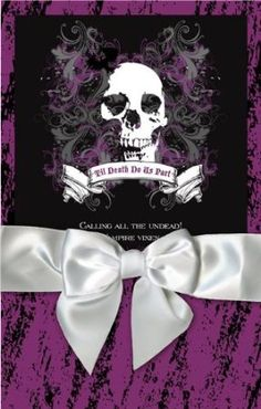 Halloween wedding invitations - purple and black gothic wedding invitations