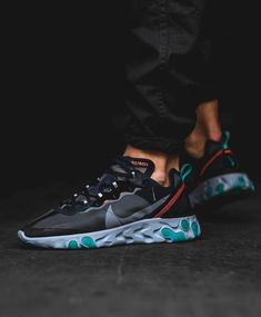 The Nike React Element 87 in Neptune Green and Bright Mango releases this Thursday, Easily the shoe of the year, but where does this colorway rank? For full store + raffle list, tap the link in our bio. Sneaker Outfits, Converse Sneaker, Sneakers Mode, Sneakers Fashion, Fashion Shoes, Mens Fashion, Tenis Casual, Casual Shoes, Sneaker Shop