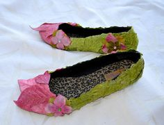 Get out your old flatties, old flowers and your glue gun and make these amazing....,Fairy Shoes