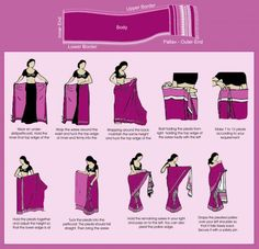 How to wear a sari Bengali style
