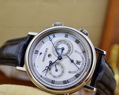"""Breguet 5707 GMT Alarm """"Le Reveil du Tsar""""  in 18K White Gold Reference 5707/BB/12/9V6...The Guilloche  on this Dial is PERFECTION!"""