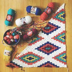 Southwestern Style Crochet Throw