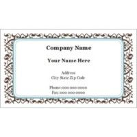 Light aquafresh aqua blue green fashion color business card free avery templates classic teal and brown pattern business cards 10 per sheet wajeb Gallery