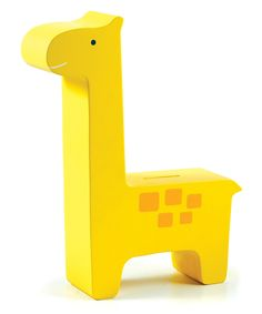 Yellow Wood Giraffe Bank//