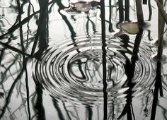 don't let your thoughts be like ripples in the water, instead let them be calm like a pond just before the storm. sit.