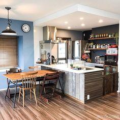 Kitchen Dinning Room, Home Decor Kitchen, Kitchen Living, Kitchen Interior, Home Kitchens, Kitchen Design, Japanese Interior Design, Room Interior Design, Dinner Room