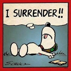 I surrender!! #snoopy #tired #overwhelmed