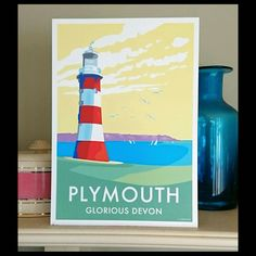 Prints and poster of Plymouth are available to buy at www.beckybettesworth.co.uk…