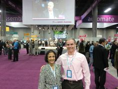 On the CA World 2011 conference floor with Kalyani at Mandalay Bay Conference Center in Las Vegas