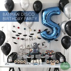 Batman Disco boy's birthday party www.spaceshipsandlaserbeams.com