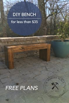 DIY Bench from 2 x 10's