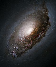 The Black-Eye Galaxy  (also called Sleeping Beauty Galaxy; designated Messier 64, M64, or NGC 4826). Hundreds of billions of stars and planets.