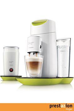 philips hd7874 10 senseo twist & milk cafetera con espumador de leche (pantalla tactil) color verde y blanco