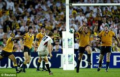 Jonny Wilkinson; That moment....... I may have only been young when this happened but every time I rematch that game it gives me goosebumps