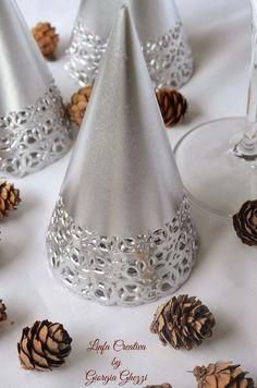 Linfa Creativa: Alberi di Natale realizzati con i sottotorta