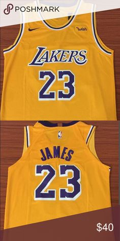 NWT LeBron James Lakers yellow jersey Brand new with tag bb728a8eb