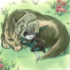 Midna and wolf Link drawn throught Oekaki