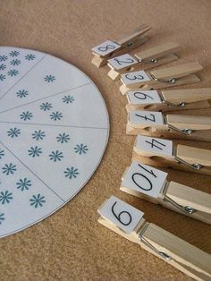 Great counting/numbers game for the little ones!