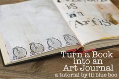 Turn an old hardcover book into a journal or art journal. #diy #tutorial