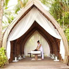 Start your day with a massage at the spa on Dedon Island, Siargao