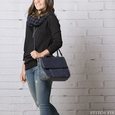 Stitch Fix: How To Wear Black and Navy, Casual Look