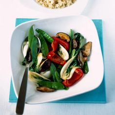 This healthy stir fry is simple yet stylish.