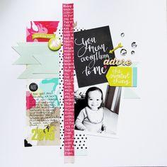 Everything To Me by Piradee Talvanna using Cocoa Daisy February 2015 kits (Journal Entry) #scrapbooking #cocoadaisykits #cocoadaisy #scrapbooking #baby #family #travels #kitclub #everyday #life