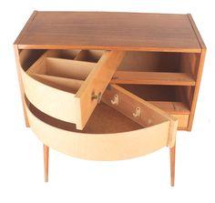Vintage Sewing Box Storage Drum Drawers 60s 50s Danish Teak by ModernicA1 on Etsy https://www.etsy.com/listing/209416249/vintage-sewing-box-storage-drum-drawers