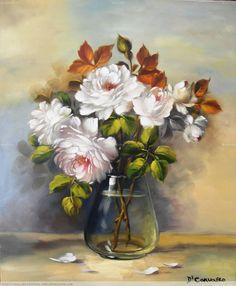 Los ramos de rosas blancas