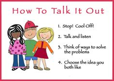 Conflict resolution steps - School district website with counseling program ideas