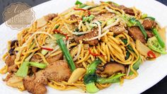 Chicken Chow Mein : Easy Stir-fried Noodles Recipe - YouTube