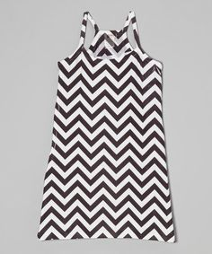 This Black Chevron Tank Dress - Girls is perfect! #zulilyfinds