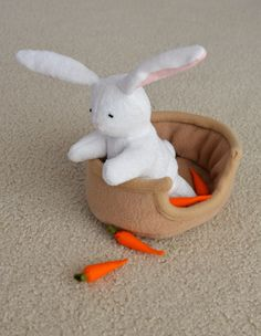 Bunny, bed and carrots tutorial