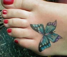 tiny butterfly tattoos | Small Butterfly Tattoos | butterfly, tattoo, foot, picture, design ...