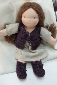 Knitted vest for Waldorf doll.