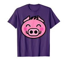 Happy Pig, Funny Happy, Farm Animals For Kids, Vegan, Amazon, Cute, T Shirt, Amazons, Tee