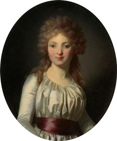 Portrait of a lady - French School, late 18th Century