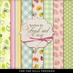 Far Far Hill: New Freebies Kit of Backgrounds - Fresh and Easy, para descargar desde un servidor