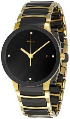 Rado Men's R30929712 Centrix Jubile Gold Plated Stainless Steel Bracelet Watch Rado