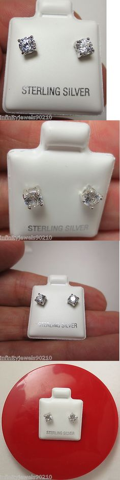 Hypoallergenic Round cut Stud Earrings 950 Platinum over Solid Sterling silver 786641490126 Chic Bridesmaid Dresses, Free Advertising, Gowns Of Elegance, Fine Jewelry, Butterfly, Stud Earrings, Diamond Stud, Sterling Silver, Wedding Inspiration