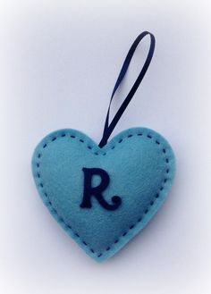 Initialled Felt Hanging Heart by SimplyStatedHandmade on Etsy, £3.50