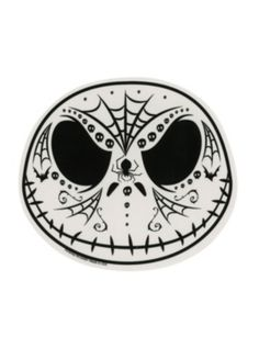 The Nightmare Before Christmas Jack Sugar Skull Sticker - $2.99 - I need this for my car <3