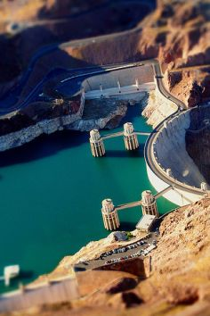 Hoover Dam, near Las Vegas.  I flew over the dam and Lake Meade in a helicopter.  Quite a sight from the air.