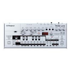 Roland TB-03 Bass Line Synth The Classic TB-303 Sound in the Palm of Your Hand The battery-powered TB-03 is a direct descendant of the famous TB-303 Bass Line Synth. The layout and controls are unchan