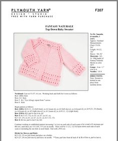 New Baby Crochet Clothes English Ideas Baby Boy Knitting Patterns Free, Baby Girl Patterns, Baby Sweater Patterns, Baby Sweater Knitting Pattern, Knitted Baby Cardigan, Knit Baby Sweaters, Baby Hats Knitting, Sweater Knitting Patterns, Free Knitting