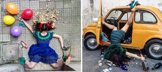 People Posing As If They've Just Fallen In Hilarious Photo Series   DeMilked