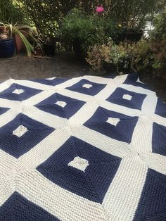 Ravelry: Thin Blue Line Group Afghan pattern by Susan Melka