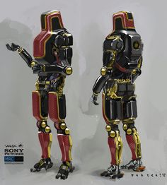 Here's the final drawings of the droids that were done to help inform the build of the practical props here at Weta and for the CG models...