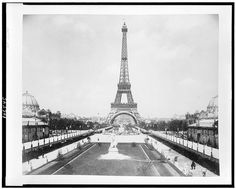 Eiffel Tower, looking toward Trocadéro Palace, Paris Exposition, 1889 (LOC) by pingnews.com, via Flickr. #AmandaJaneJones